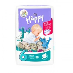 Pieluszki Bella Baby Happy New Flexi Fit Junior Extra (6) 16+kg