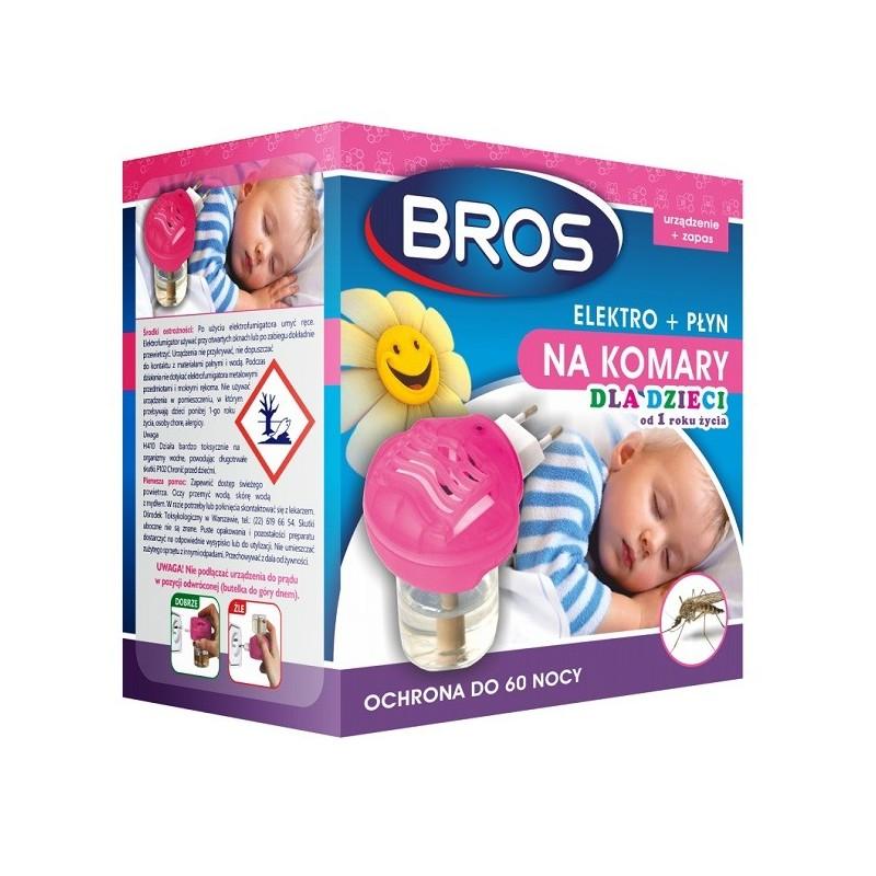 Bros Elektro + płyn na komary dla dzieci 1 szt.