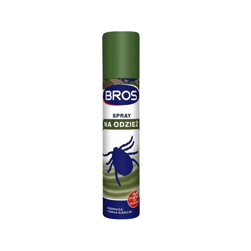 Spray na odzież na komary i kleszcze Bros 90 ml