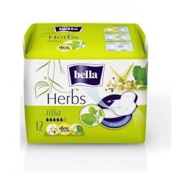 Podpaski higieniczne Bella Herbs wzbogacone kwiatem lipy