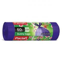Paclan Worki domowe Bunny Bags zapachowe, lawenda 60 l 15 szt.
