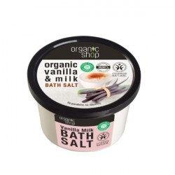 Sól morska do kąpieli Waniliowe Mleko Organic Shop 250 ml