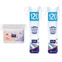 Płatki kosmetyczne Bella Cotton 120 szt. x 2 + patyczki 160 szt.