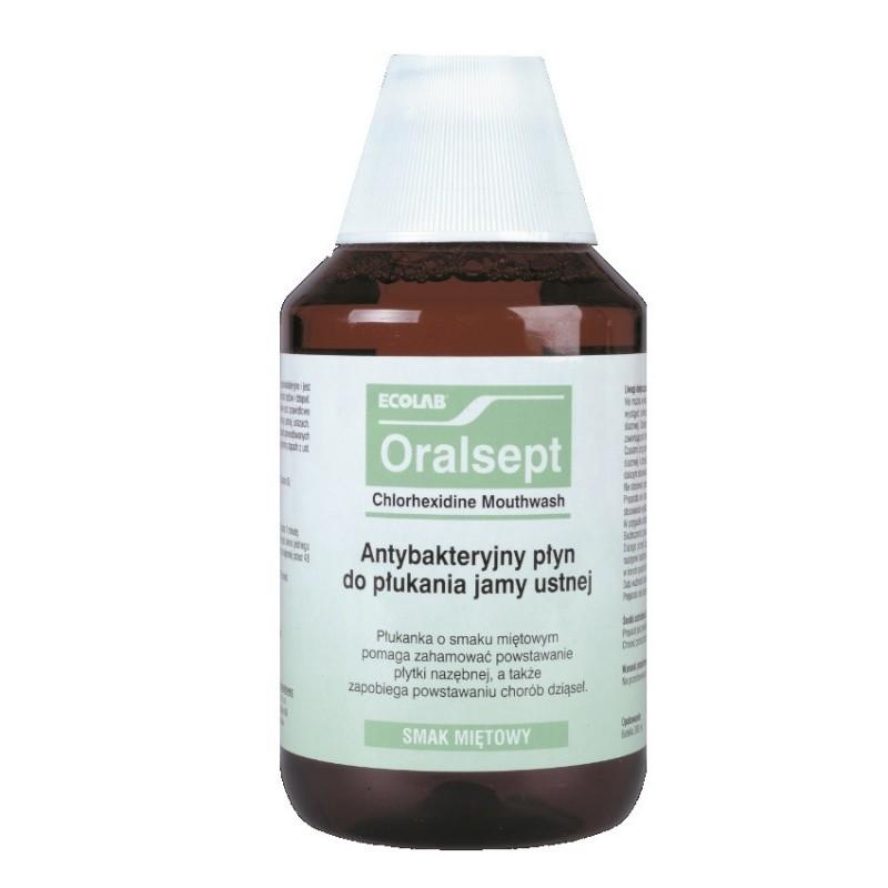 Oralsept płyn do płukania jamy ustnej i gardła Ecolab 300 ml