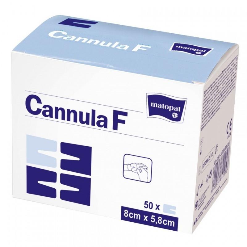 Opatrunek samoprzylepny do kaniul, foliowo-włókninowy Cannula F