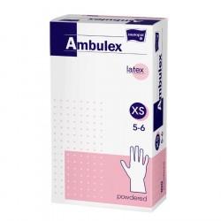 Rękawiczki lateksowe Ambulex i Ambulex P, białe, niesterylne 100szt.