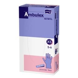Rękawiczki nitrylowe Ambulex Nitryl fioletowe, niesterylne 100szt.