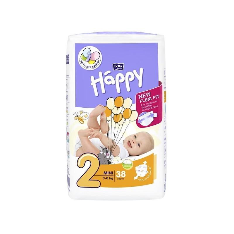 Pieluszki Bella Baby Happy New Flexi Fit Mini (2) 3-6 kg
