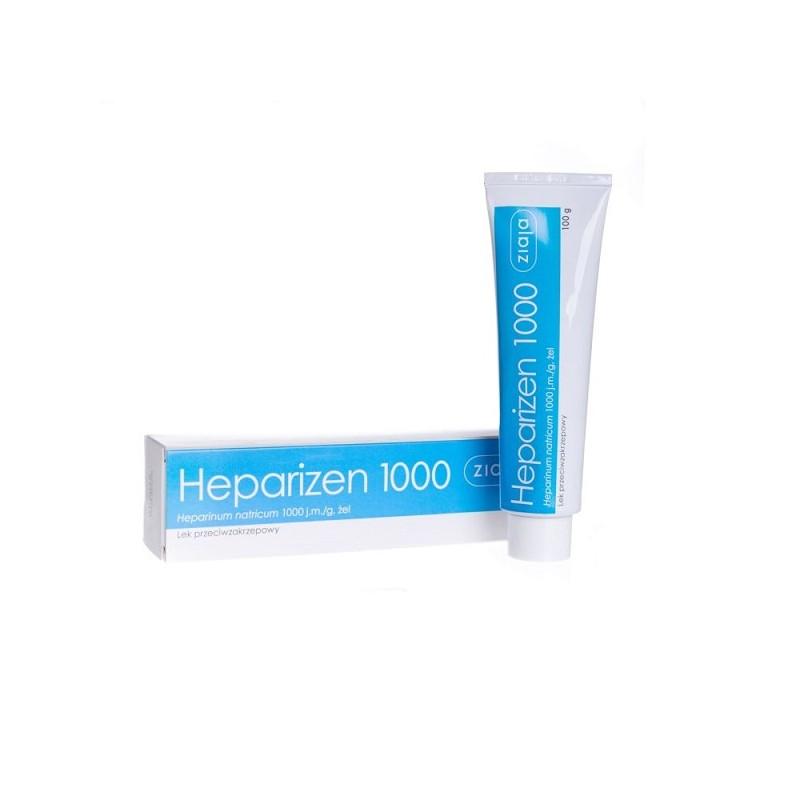 Żel na na zakrzepy, blizny, stłuczenia Heparizen 1000, 100 g