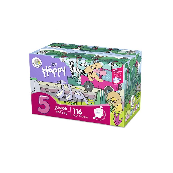 Pieluszki Bella Baby Happy Junior Flexi Fit BOX 116 szt.