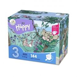 Pieluszki Bella Baby Happy Midi Flexi Fit BOX 144 szt.