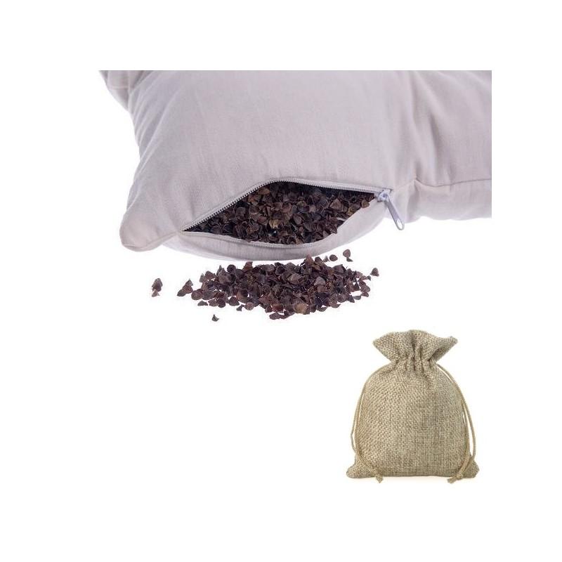 Poduszka do spania z łuską gryki 40x40 + woreczek z lawendą