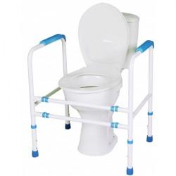 Rama łazienkowa, asekuracyjna, z 4 podporami przy toalecie