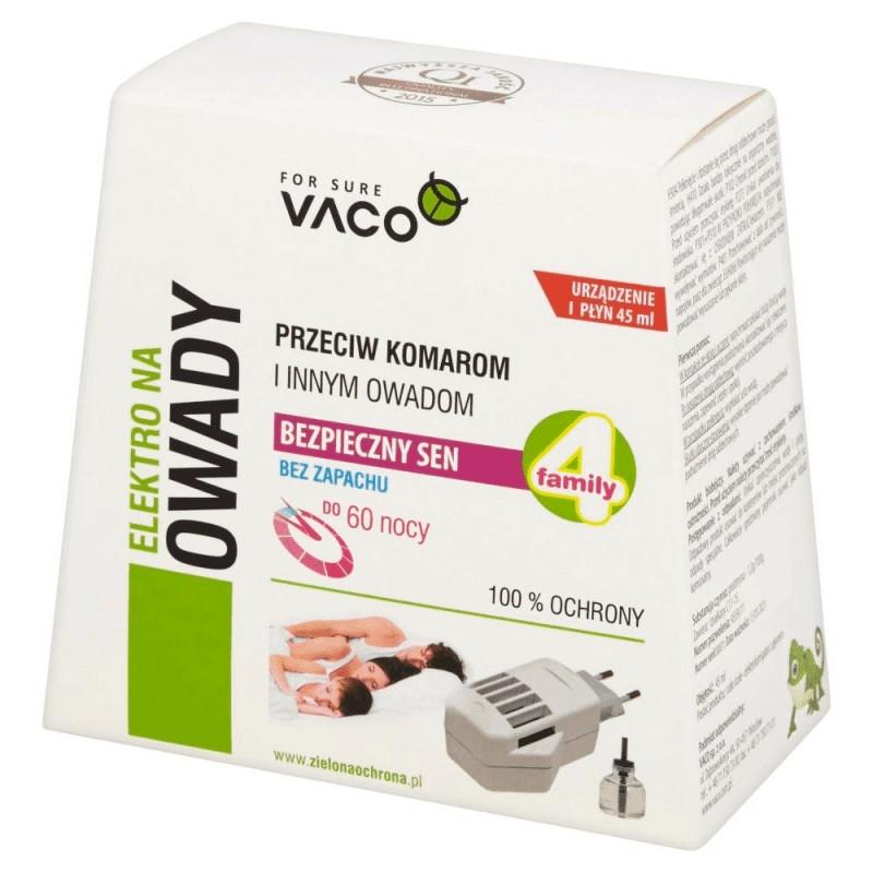 Elektro + Płyn przeciw komarom i innym owadom Vaco 45 ml