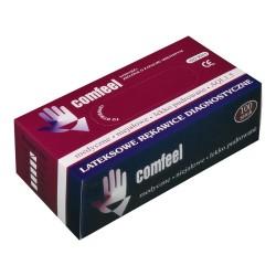 Rękawiczki lateksowe, miętowe Comfeel, niesterylne 100szt.