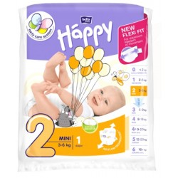 Pieluszki Bella Baby Happy New Flexi Fit Mini (2) 3-6 kg