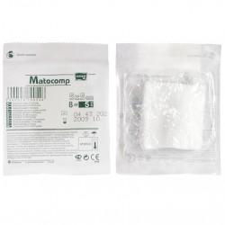 Kompresy z gazy Matocomp jałowe, 17-nitkowe  (blister b-tag)