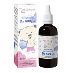 Witamina D3 LinoComplex Baby, 400 j.m. 30 ml