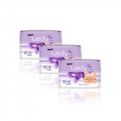 3x Wkładki urologiczne Seni Lady Slim Mini Plus 12 szt. + 4 szt.