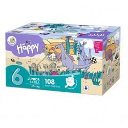 Pieluszki Bella Baby Happy Junior Extra Flexi Fit BOX 108 szt.