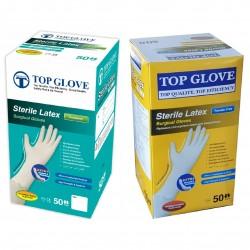 Rękawiczki jednorazowe lateksowe chirurgiczne Top Glove 50 par