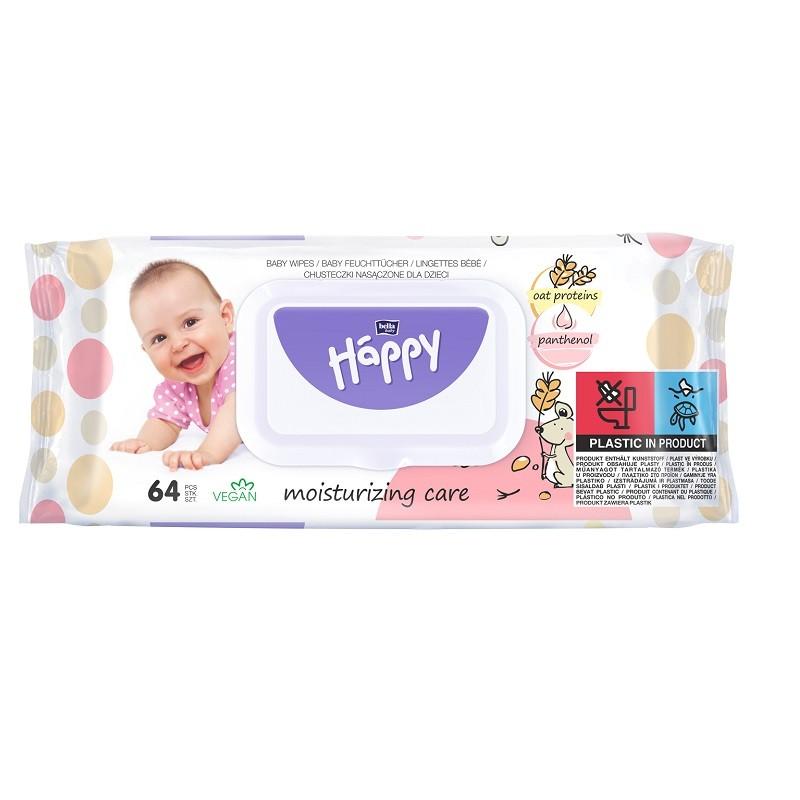 Chusteczki nasączone Bella Baby Happy z proteinami owsa i panthenolem 64 szt.