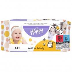 Chusteczki nasączone Bella Baby Happy Mleko i Miód 64 szt.