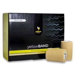 Bandaż elastyczny samoprzylepny YellowBAND cielisty 12 szt.