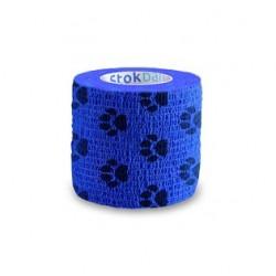 Bandaż samoprzylepny Stokband niebieskie łapki Stokmed