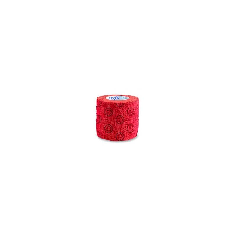 Bandaż samoprzylepny Stokband czerwony uśmiech Stokmed