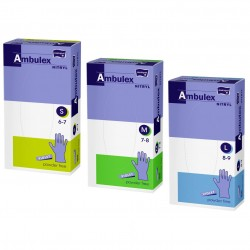 Rękawiczki jednorazowe nitrylowe fioletowe Ambulex Nitryl 100 szt.
