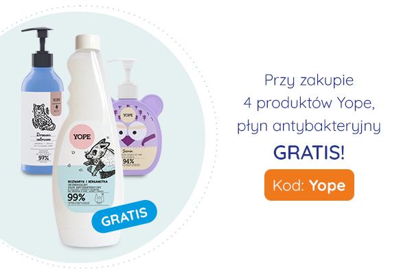 Przy zakupie 4 produktów Yope, płyn antybakteryjny GRATIS!