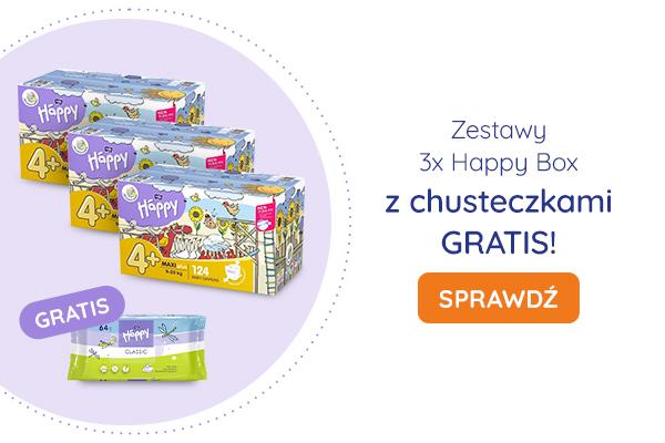 Zestawy 3x Happy Box z chusteczkami GRATIS!
